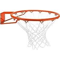 Crown Sporting Goods Borde de Baloncesto de Acero Inoxidable con Red para Todo Tipo de Clima, estándar/18 Pulgadas, Color Naranja
