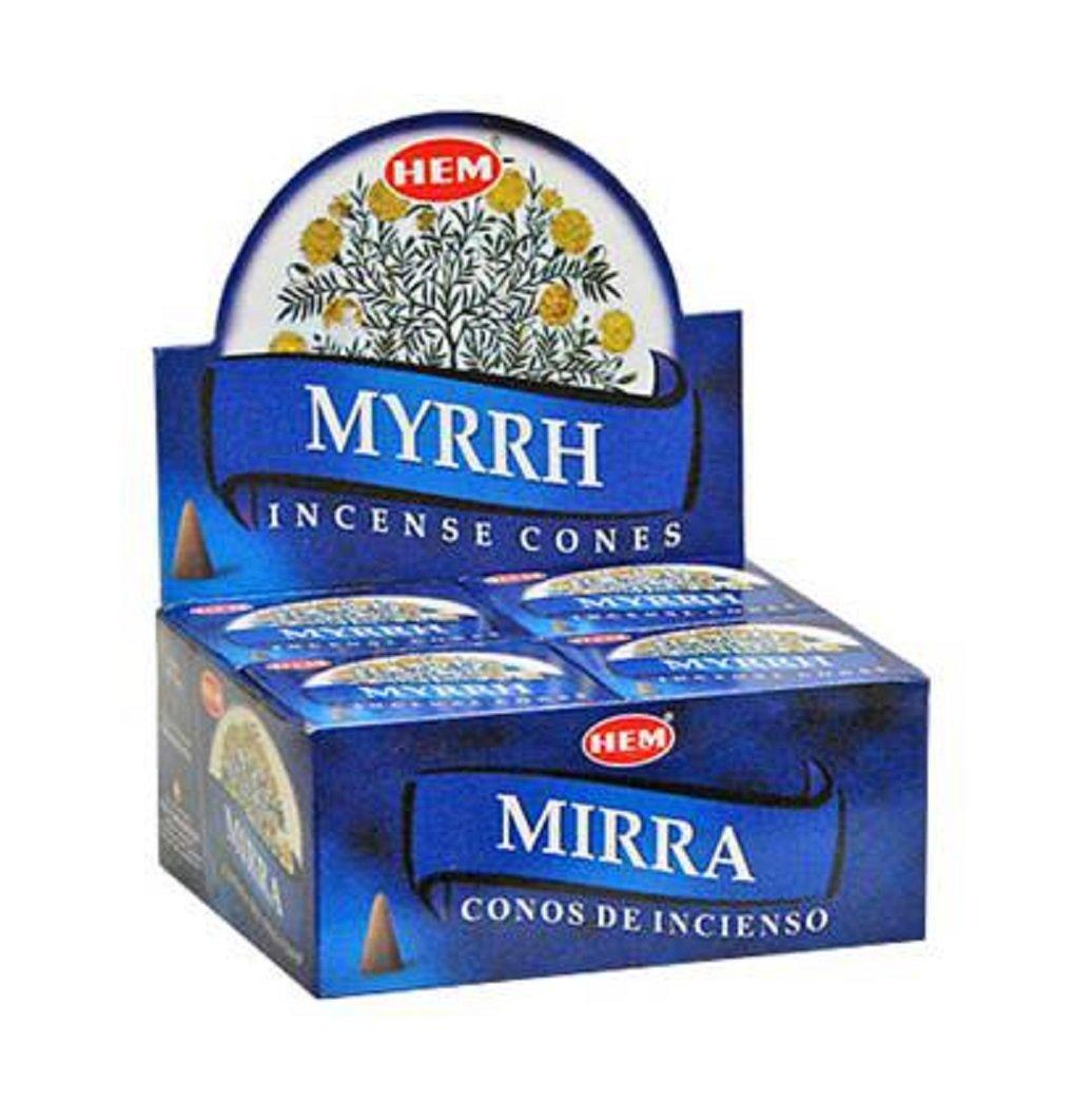 Myrrh - Case of 12 Boxes, 10 Cones Each - HEM Incense From India