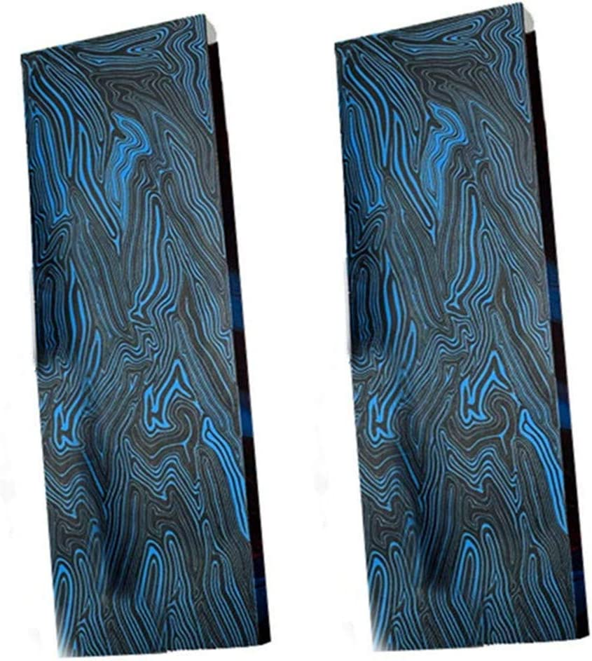Aibote 2pc G10 Glass Fiber Damascus Pattern Knife Handle Material Scales Slabs Knives