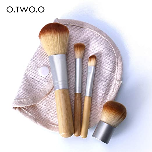Best Quality - Eye Shadow Applicator - 4PCS/LOT Bamboo Brush Foundation Brush Make-up Brushes Cosmetic Face Powder Brush For Makeup Beauty Tool - by Silkpath_Store - 1 PCs