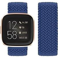 Vozehui Compatibel met Fitbit Versa Strap/Fitbit Versa 2 Strap, elastisch, ademend, zacht, nylon, Kinitting Sport…