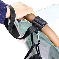 Lekebaby Buggy Clips Pram Hook Universal Secure Stroller Hooks for Baby Changing Bag and Shopping Bag - 2 Pack (Black)