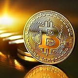 Yiteng ビットコイン BitCoin 仮想通貨 ヨッロパ アメリカ コイン 記念硬貨 (ゴールド)