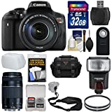 Canon EOS Rebel T6i Wi-Fi Digital SLR Camera & EF-S 18-135mm is STM & 75-300mm III Lens 32GB Card + Case + Strap + Filters + Flash + Kit