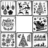 TOPTOMMY クリスマス ステンシルシート ステンシル テンプレート 描画テンプレート 手帳 テンプレート13x13cm 8枚入り