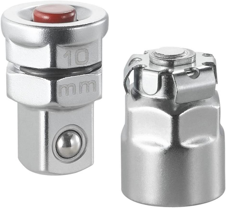 Facom Set Of 2 Adaptors For 10 MM Wrenches To 1//4 Drive
