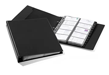 Durable Visifix Economy Business Card Album Binder A4 Size Black
