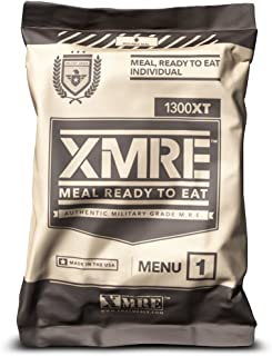 product image for X MRE Meals 1300XT Single Meal with Heater (Meal Ready to Eat Military Type) (Menu May Vary)