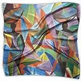 Creativity Africa Women 100% Polyester Silk Feeling Large Square Kerchief Neck Scarf Women Headdress