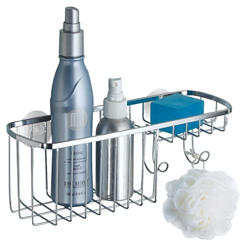 mdesign duschkorb zum hngen aus edelstahl die ideale duschablage mit 2 haken fr shampoo - Duschzubehor Zum Hangen