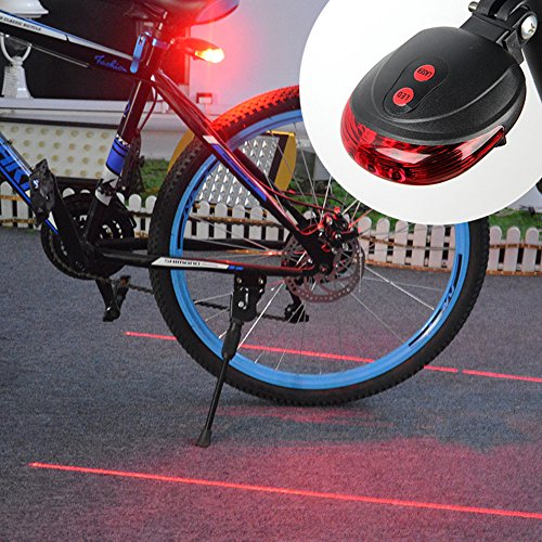 Water Resistant Bicycle Bike Rear Tail Safety Flashing Light 5 LED - 1