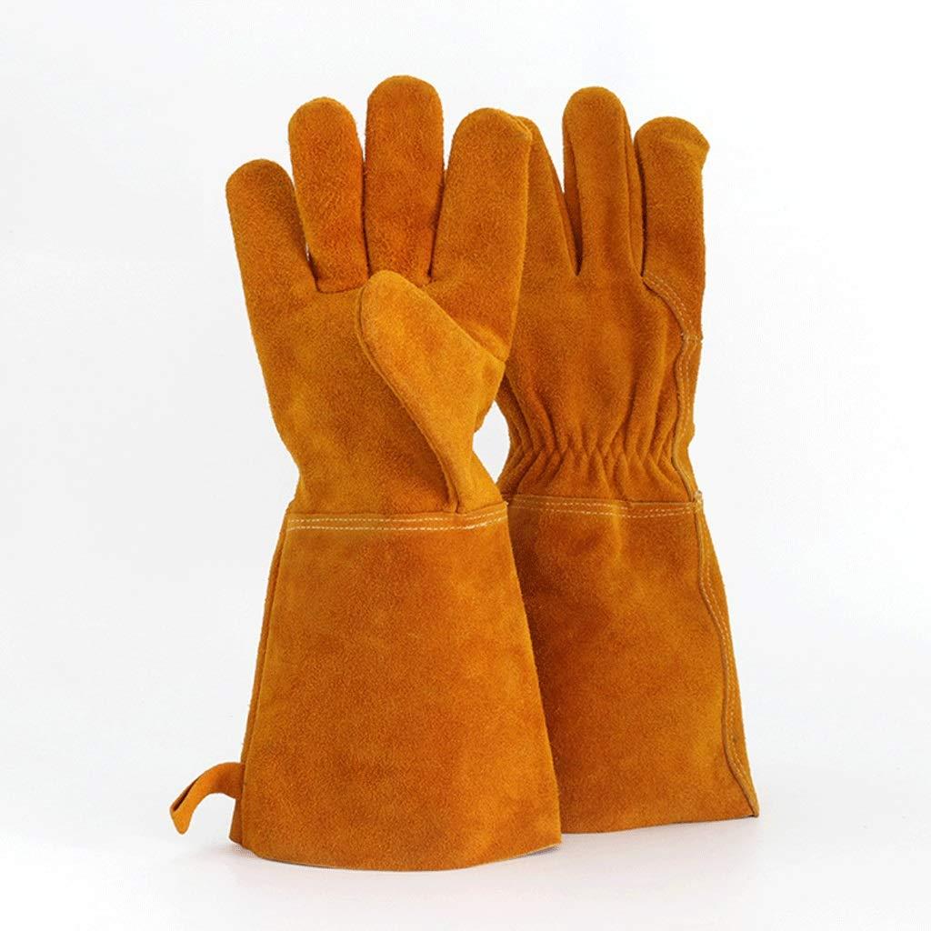 Gloves Soldadura eléctrica de Cuero para Aumentar los Guantes Aislamiento Soldadura Resistente al Desgaste Salpicaduras de Flores de Fuego Soldador Guantes ...