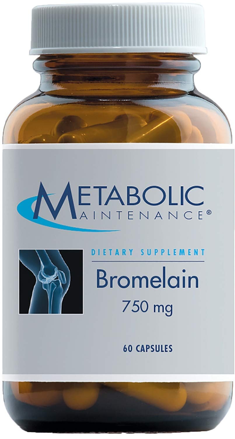 Metabolic Maintenance Bromelain - 750 mg Digestive Enzyme to Support Protein Digestion, No Fillers (60 Capsules)