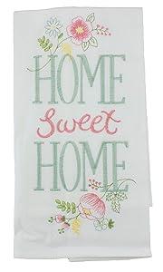 "C&F Enterprises 18"" x 27"" Flour Sack Kitchen Towel, Home Sweet Home (86171047)"