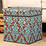 Storage Stool Oxford cloth, printed covered storage box, shoe bench, folding storage box, storage box (Color : B)