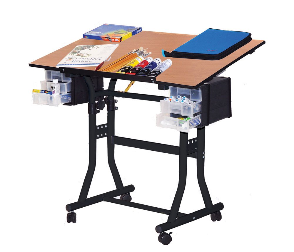 Martin Creation Station Art-Hobby 24-Inch by 40-Inch Surface Table, Black with Cherry Top by Martin