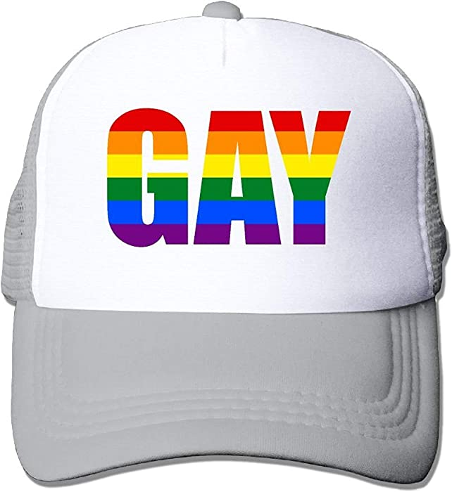 afa8e56d782 monogram doormat Adult s Gay Amecica Flags Youth Mesh Baseball Cap Summer  Adjustable Trucker Hat