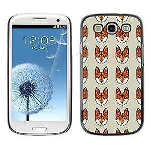 PatternViking PC Polycarbonate / Aluminium Casa Carcasa Funda Case Bandera Samsung Galaxy S3 III i9300 ( zorro lindo )