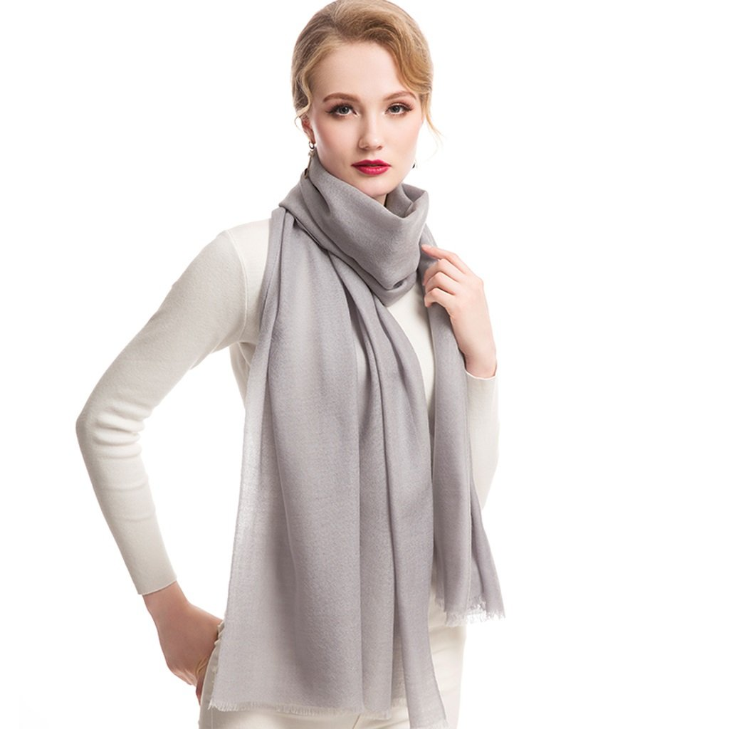 K JUN Women's Scarf Solid color Thin Shawl Ultra Long Scarf (color   D)
