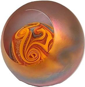 Glass Eye Jupiter Blown Glass Paperweight Newest Version