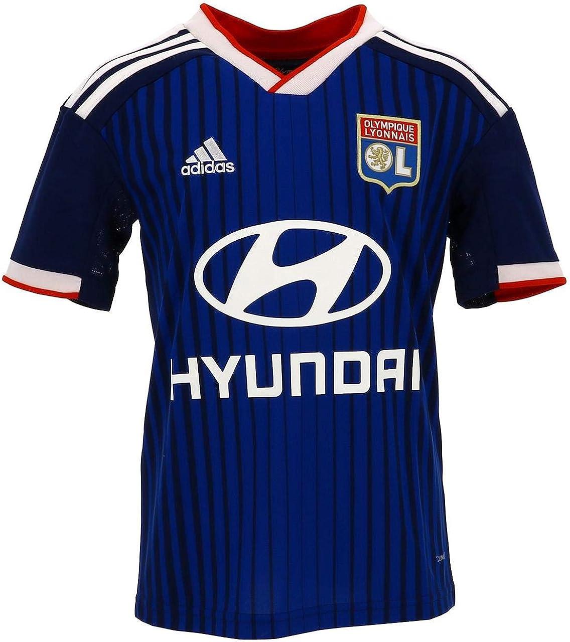 Temporizador morfina Molestar  Amazon.com : adidas 2019-2020 Olympique Lyon Away Football Soccer T-Shirt  Jersey (Kids) : Clothing
