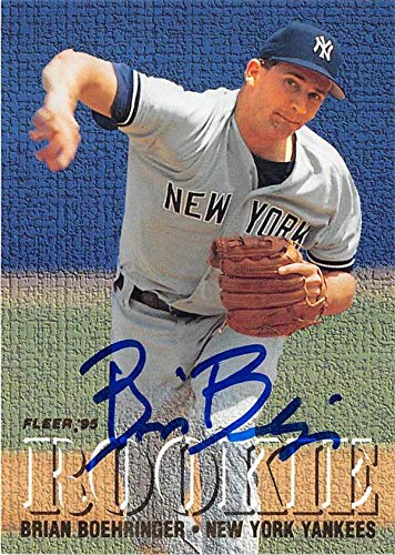 - Brian Boehringer autographed baseball card (New York Yankees) 1995 Fleer #M3 Rookie Exchange