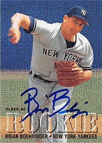 Brian Boehringer autographed baseball card (New York Yankees) 1995 Fleer #M3 Rookie Exchange 1995 Best Autographed Card