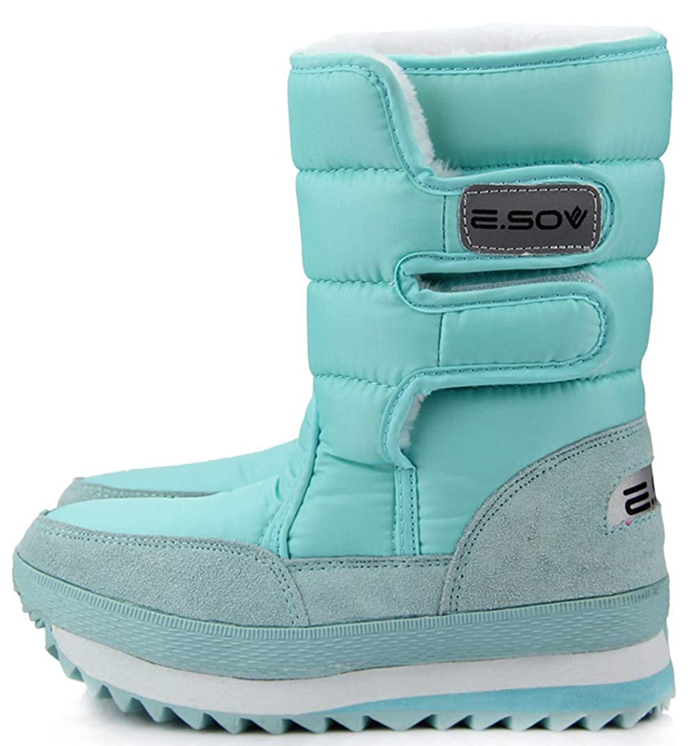 bluee XIANV Women Snow Boots Anti-Slip Soles Waterproof Non-Slip Warm Padded shoes