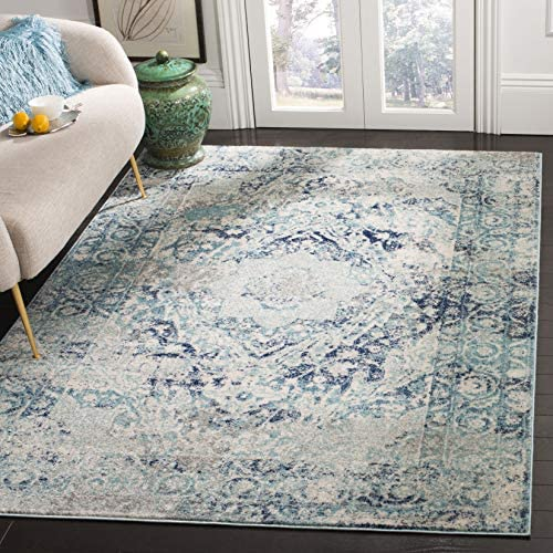Best living room rug: Safavieh Madison Collection MAD152M Boho Chic Medallion Non-Shedding Stain Resistant Living Room Bedroom Area Rug