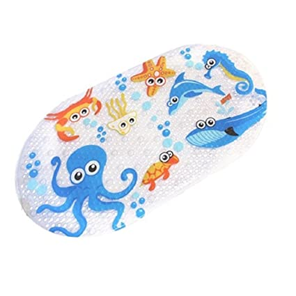 Amazoncom Feidol Non Slip Baby Bath Mat With Suction Cups For Tub