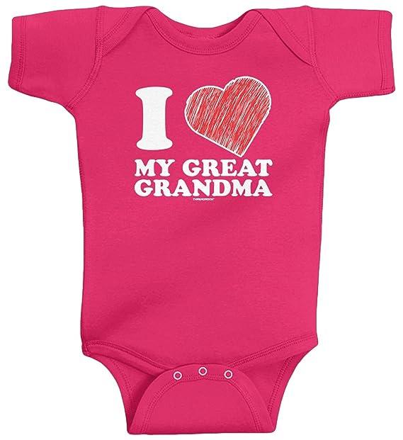Amazon Com Threadrock Baby Girls I Love My Great Grandma Infant