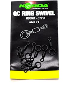 Size 8 /& 11 Available Avid Carp Ring Swivels