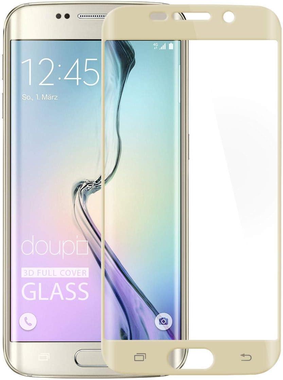 doupi FullCover Protector de Pantalla Compatible con Samsung Galaxy S6 Edge Plus, Cobertura Completa 3D 9H HD Duro Vidrio Templado, Dorado: Amazon.es: Electrónica