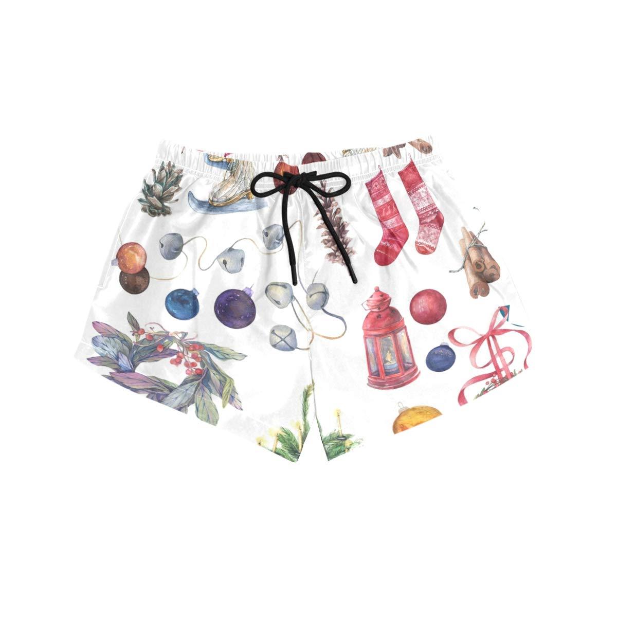 Amazon.com: HeOEH - Pantalones cortos para mujer, diseño de ...