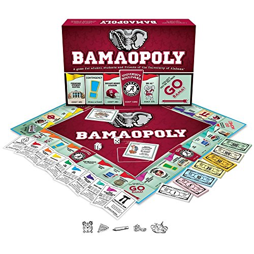 University of Alabama Bamaopoly Alabama Crimson Tide Playing Card