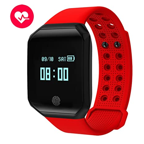 Smart Bracelet Watch IP67 Waterproof,Fitness Tracker With Blood Pressure/Heart Rate Monitor Bluetooth 4.0 For Men Women