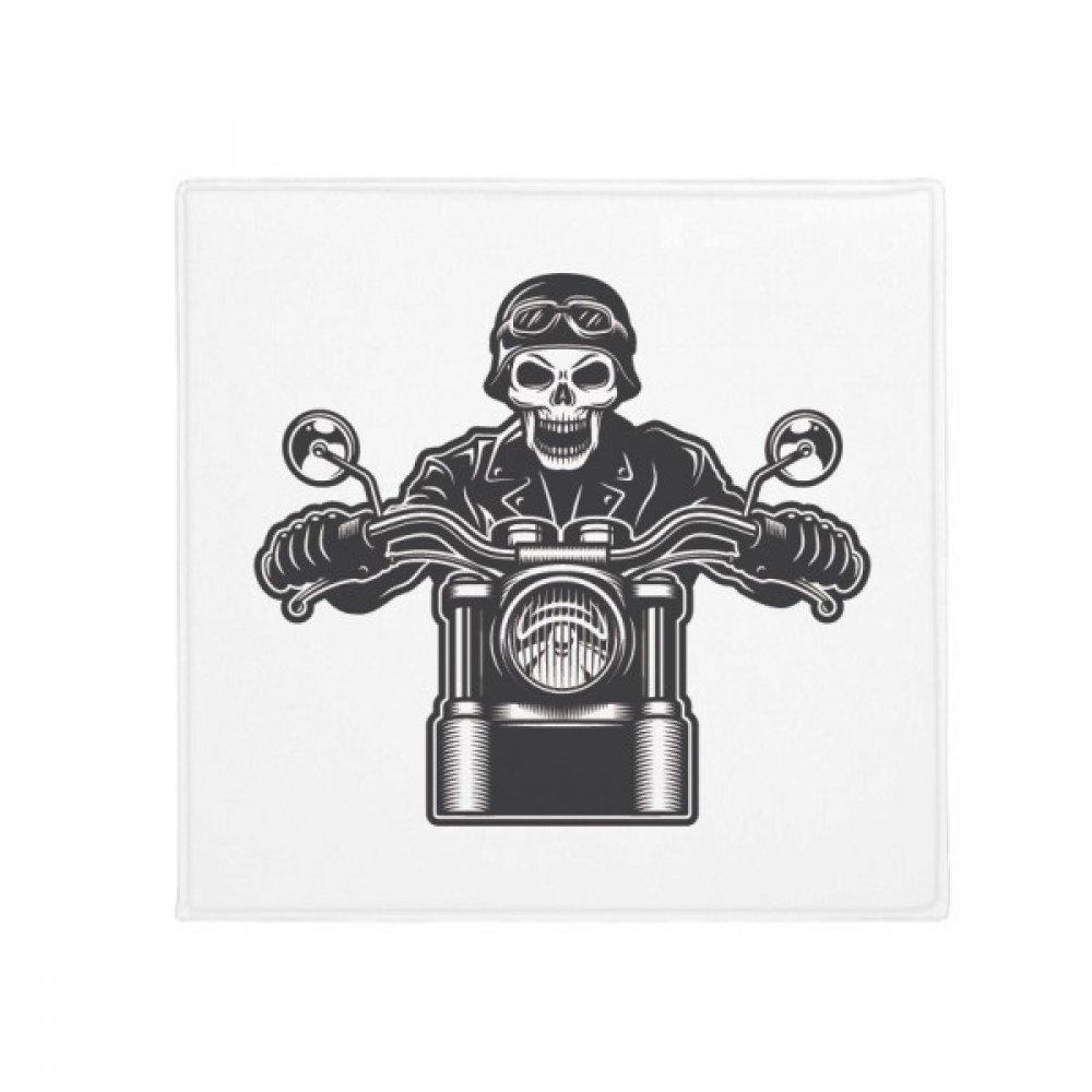 DIYthinker Motorcycle Skeleton Lights Goggles Pattern Anti-Slip Floor Pet Mat Square Home Kitchen Door 80Cm Gift