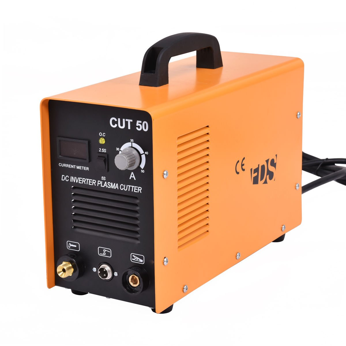 Goplus CUT-50 Electric Digital Plasma Cutter Inverter 50AMP Welder Cutting Dual Voltage (Yellow)