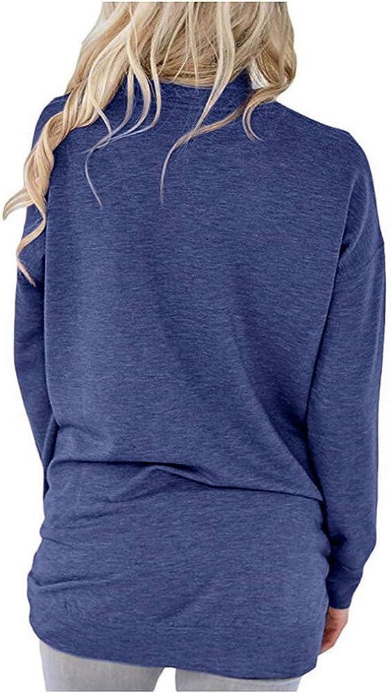 WANPUL Maglie Donna Magliette Primavera e Autunno Maniche Lunghe Tops Manica Lunga Casuale Maglie a Manica Lunga T-Shirt