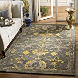 Cheap Safavieh Bella Collection BEL671A Handmade Blue Grey and Gold Premium Wool Area Rug (4′ x 6′)