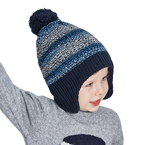 SOMALER Toddler Winter Hats For Boys Ear Flap Beanie Kids Re