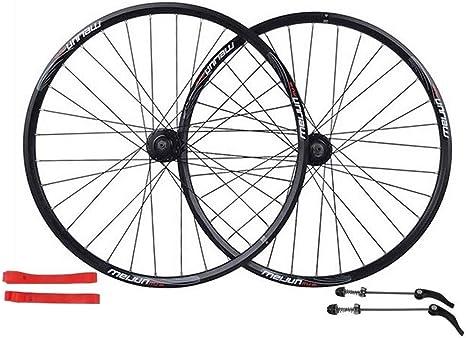 ZNND Juego Ruedas de Bicicleta, Ruedas Ciclismo Juego Ruedas Freno Disco Bicicleta montaña Cojinete liberación rápida Palin 7/8/9/10 Velocidad 26 Pulgadas (Color : Black): Amazon.es: Deportes y aire libre