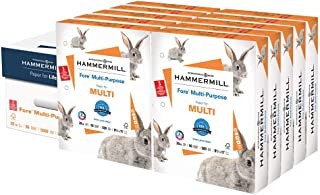 product image for Hammermill Printer Paper, Fore Multipurpose 20 lb Copy Paper, 3 hole - 10 Ream (5,000 Sheets) - 96 Bright, Made in the USA