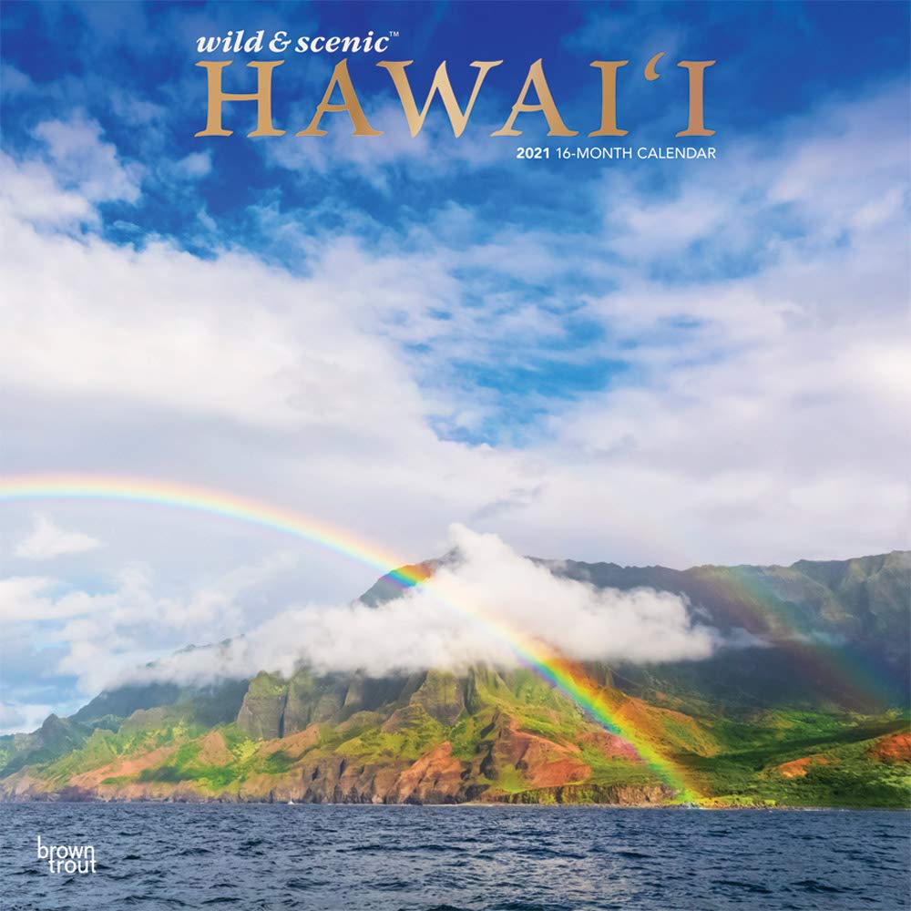 Calendario Atpl 2021 Hawaii 2021 12 x 12 Inch Monthly Square Wall Calendar with Foil