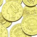 Assorted Liberty Gold Coins Solid Milk Chocolate 1 Pound by Madelaine Chocolate Company