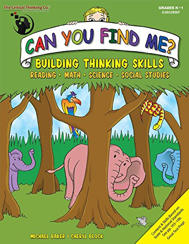 Can You Find Me? K-1 Reading, Math, Science, Social Studies