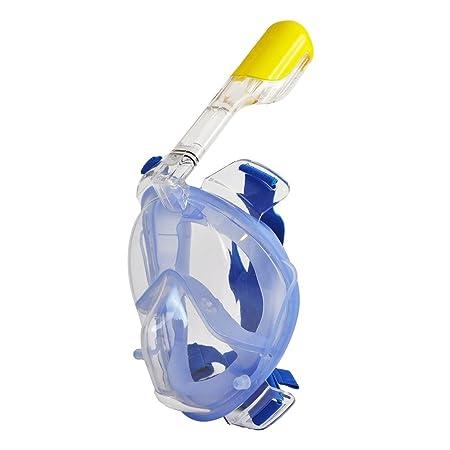 OCEANS7 O7M11035SBL Full Face Snorkel Mask, Blue, Small Medium