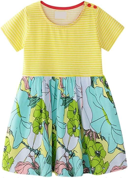 Vestido de la princesa de las niñas Little Girl Stripe Casual ...