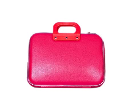 "Elegante rojo 14 ""Funda para portátil de piel ordenador bolsa ..."