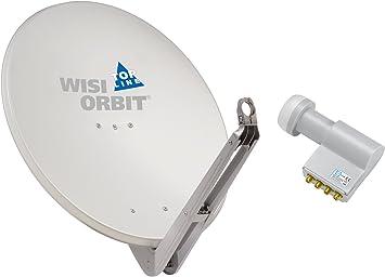 Wisi Satellitenschüssel Set Lichtgrau 85 Cm Für Elektronik